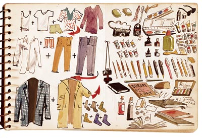 Adolf Konrad, packing list, December 16, 1963