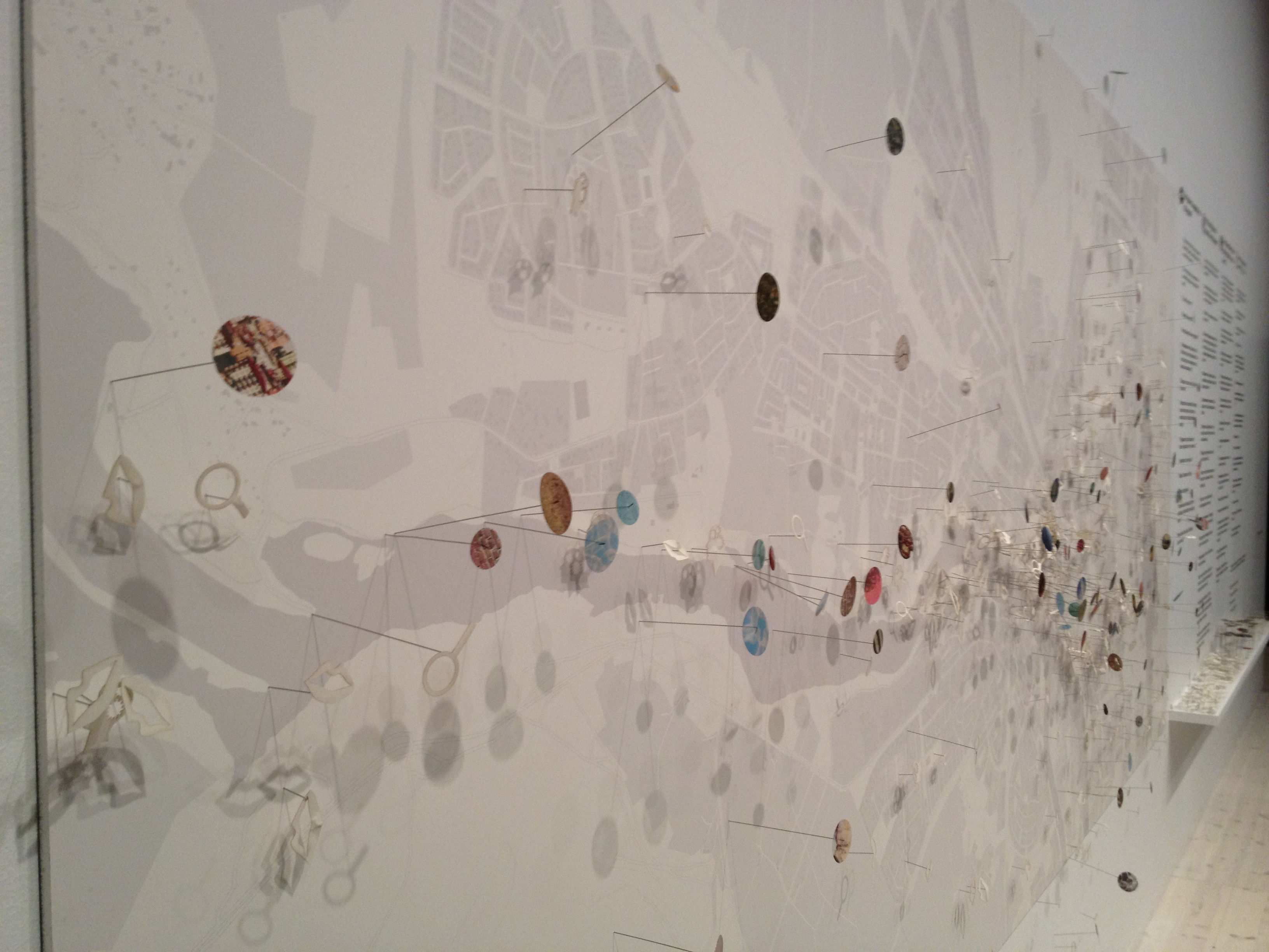 A lovely collaborative mapping project on display in the Communitas exhibition at the Bildmuseet.