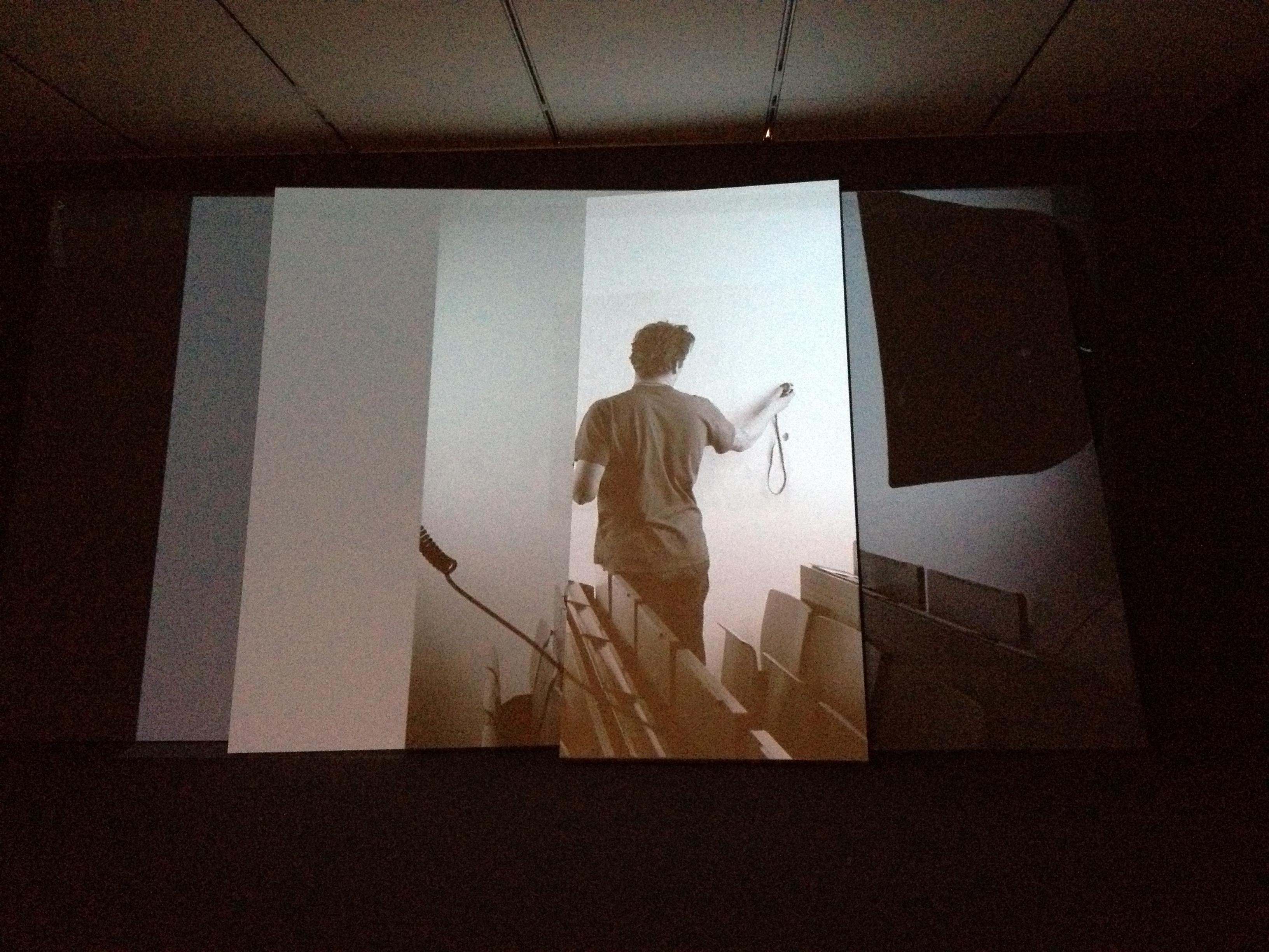 """""""Prismatic"""" screen in Hito Steyerl's Adorno's Grey"""