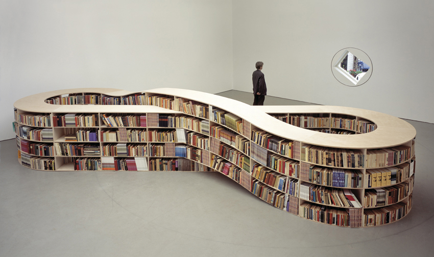 Job Koelewijn's Mobius bookshelf