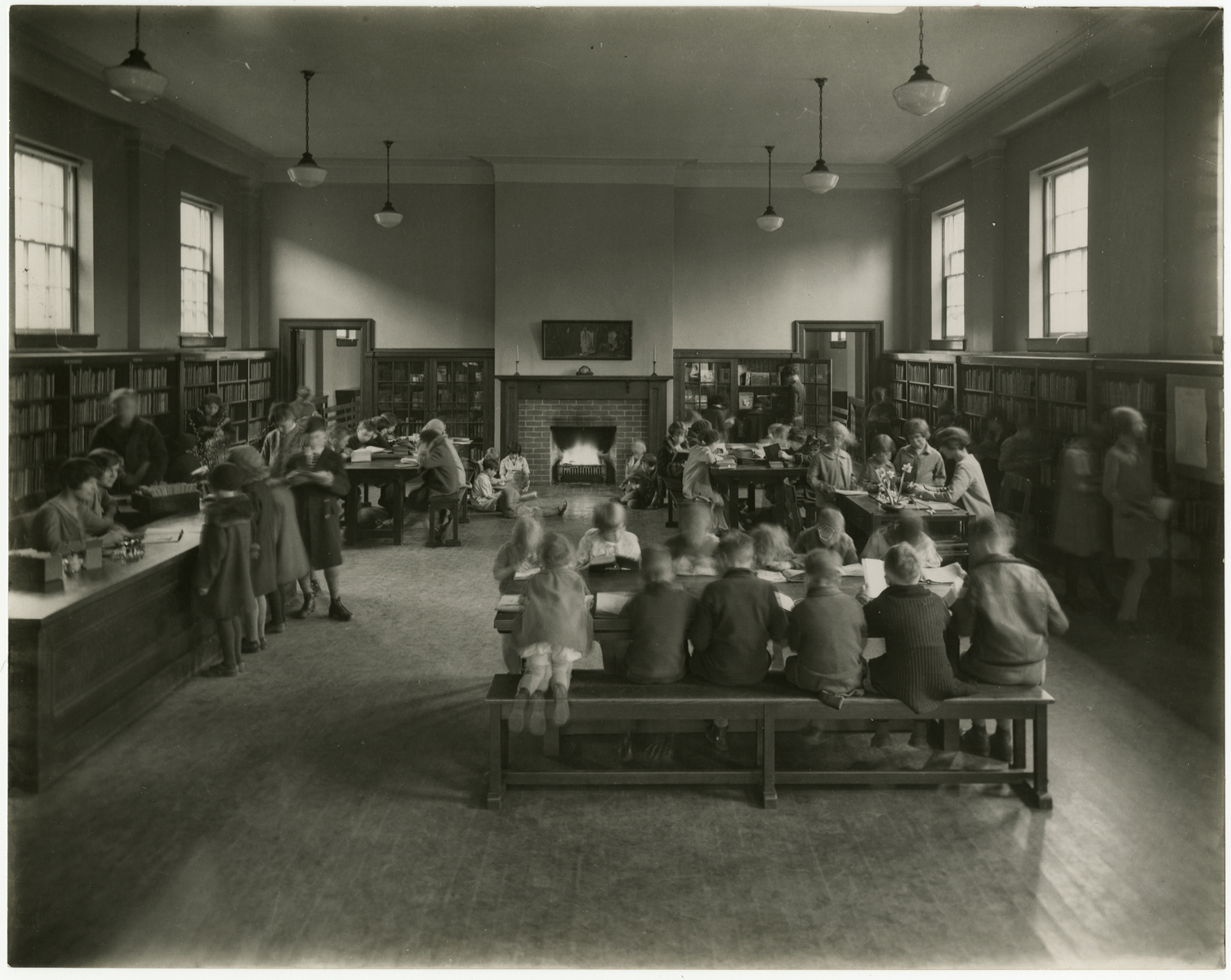Boys and Girls Library, Riverdale Branch, about 1928; via  Toronto Public Library