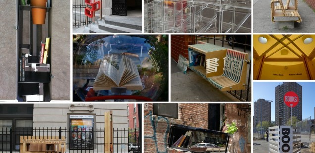 Little Free Libraries, via the Architectural League of NY