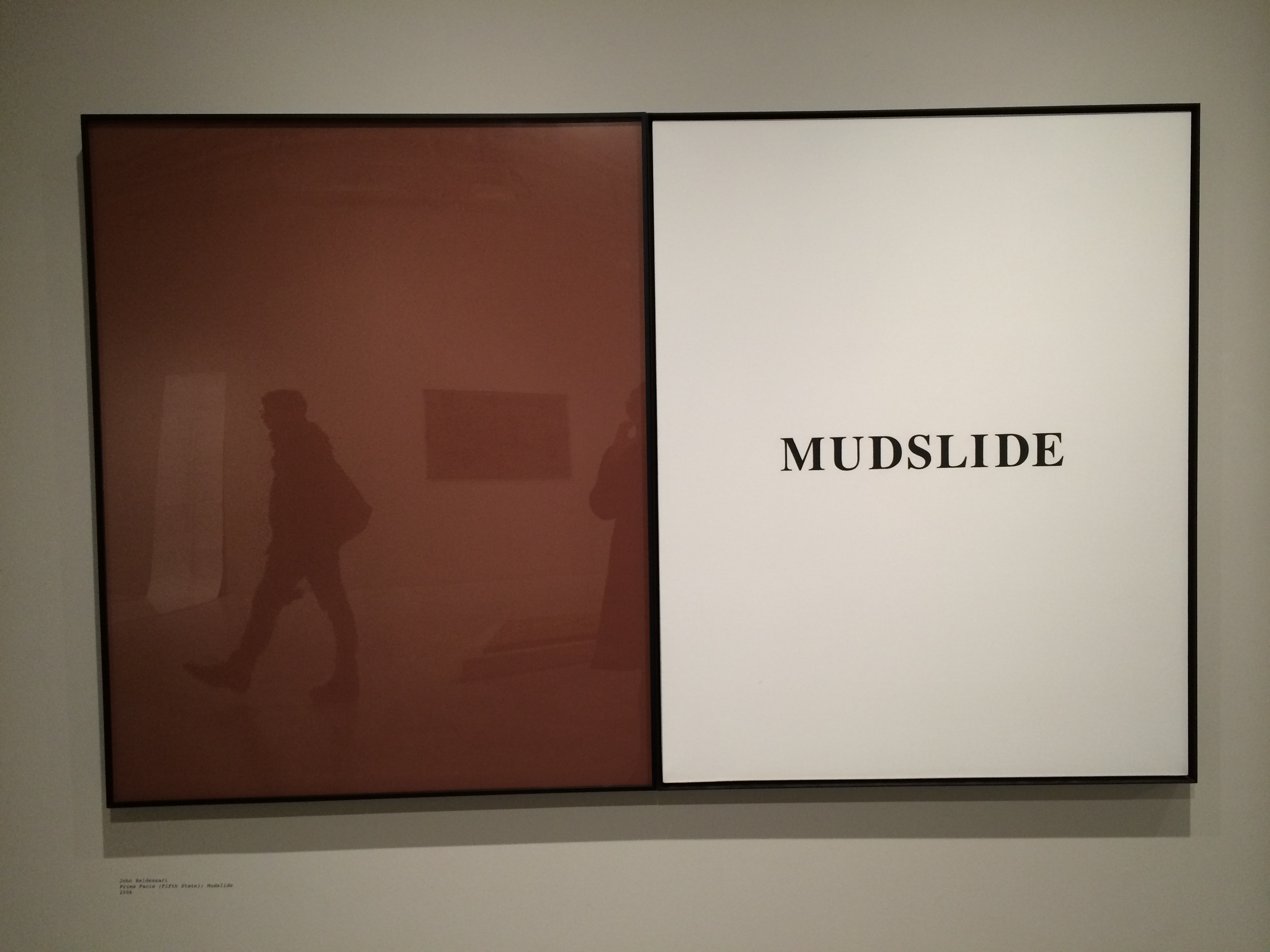 John Baldessari, Prima Facie: Mudslide, 2006
