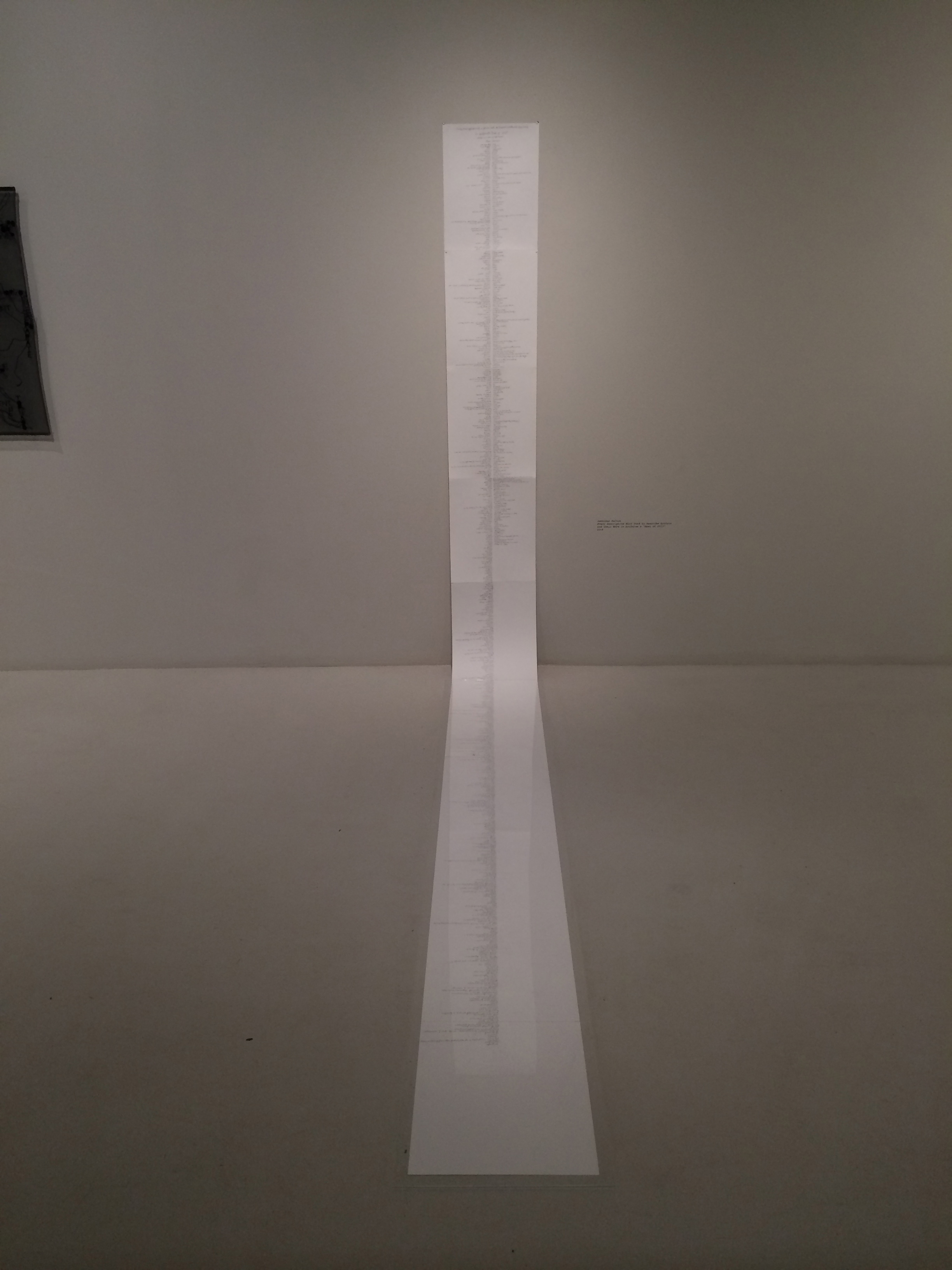 """Jennifer Dalton, """"Every Descriptive Word Used to Describe Artists and Their Work in Artforum's 2013 'Best of 2013'"""""""