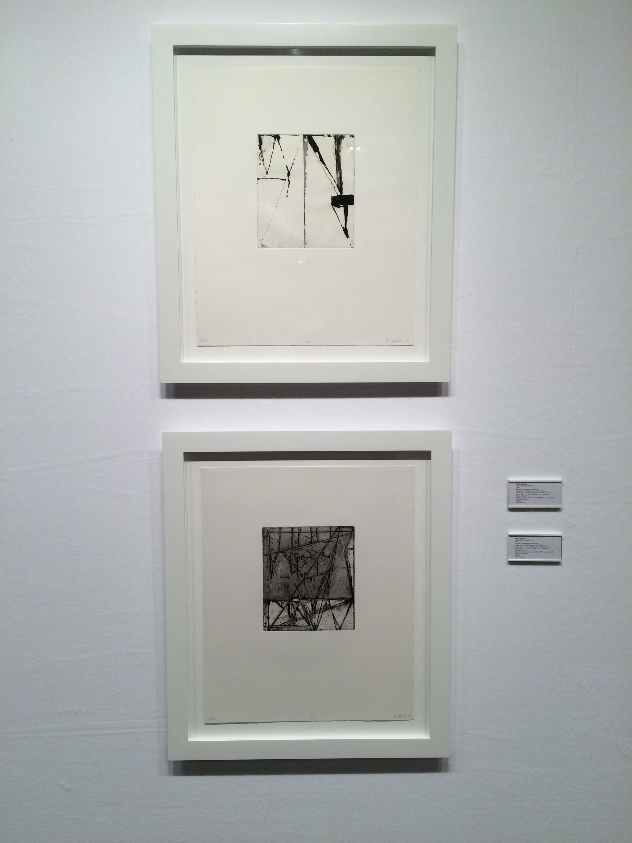 Brice Marden, Etchings to Rexroth