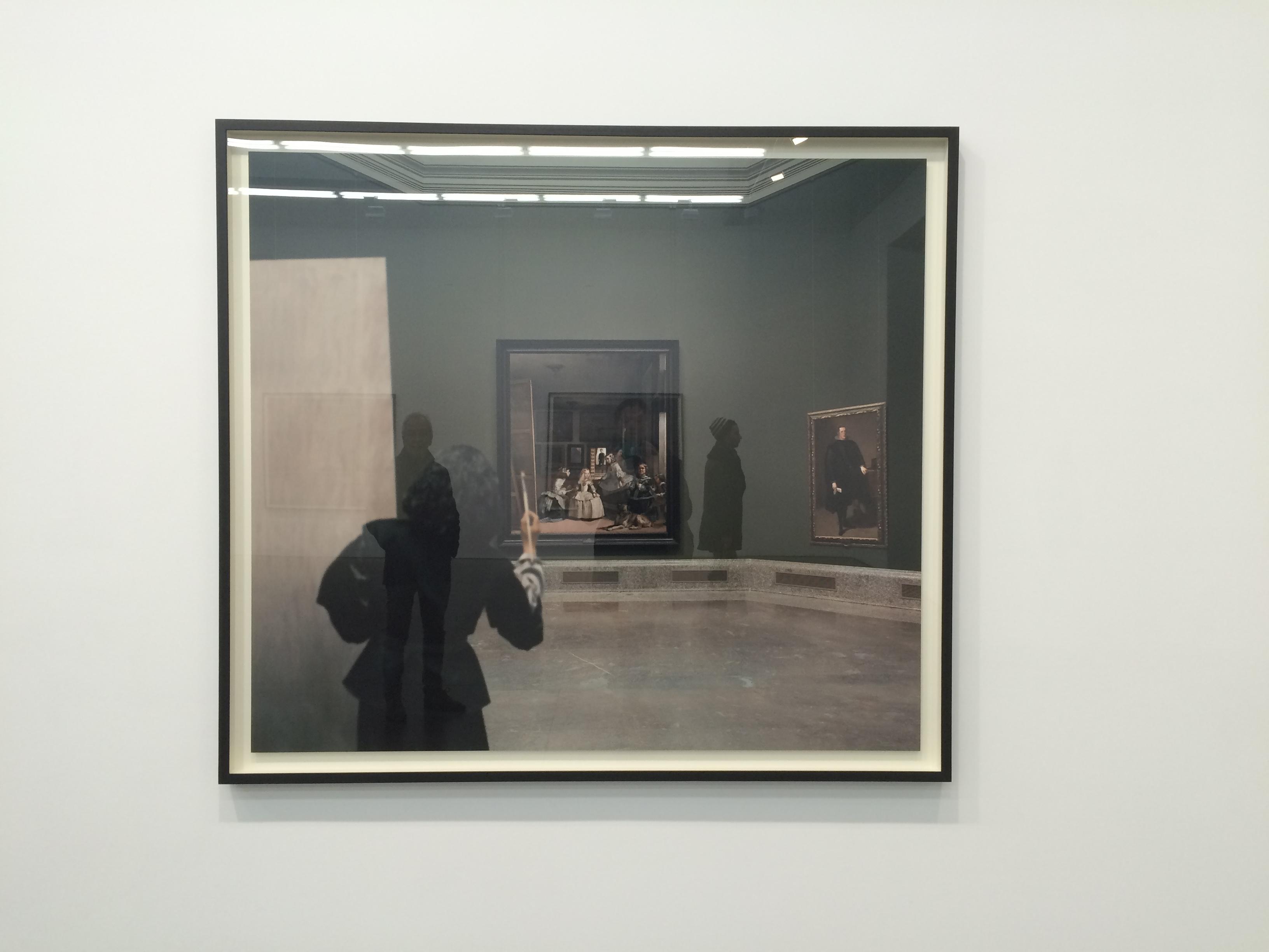 """Yasumasa Morimura, """"Las Meninas renacen de noche III: Opening the door in the depth of the painting"""""""