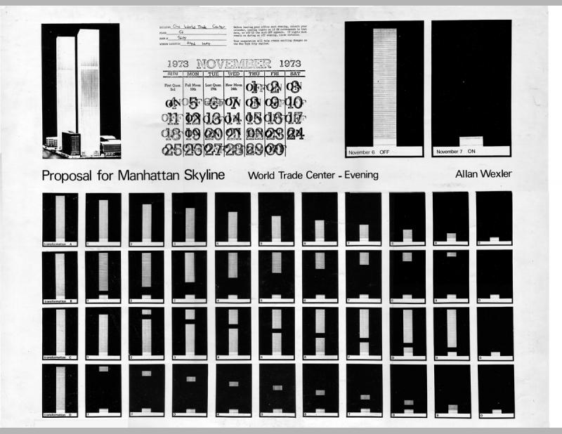 Proposal for the Manhattan Skyline, World Trade Center, 1973 & 1976