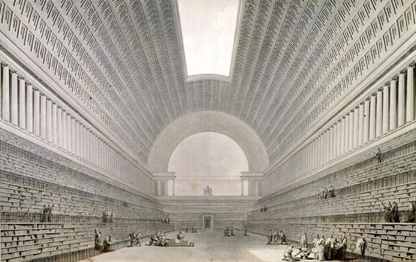 Boullée, Deuxieme projet pour la Bibliothèque du Roi