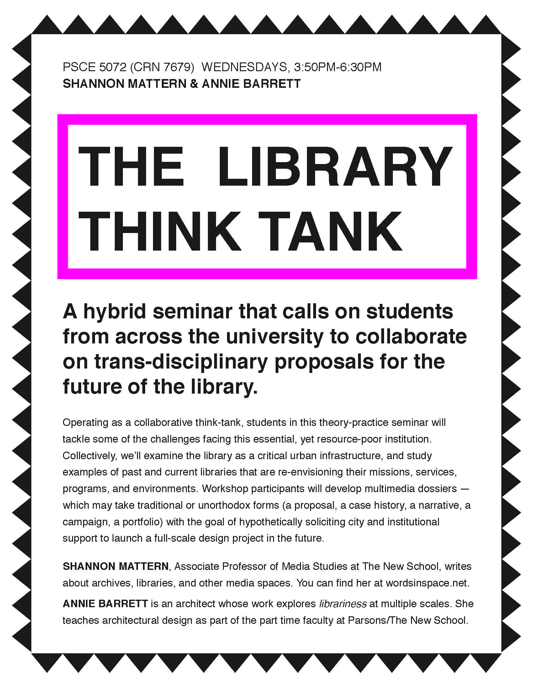 THE LIBARARY THINK TANK Poster