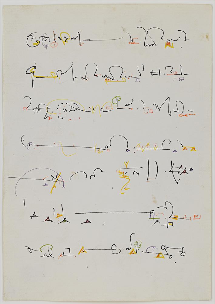 Gordon Matta Clark, Calligraphy
