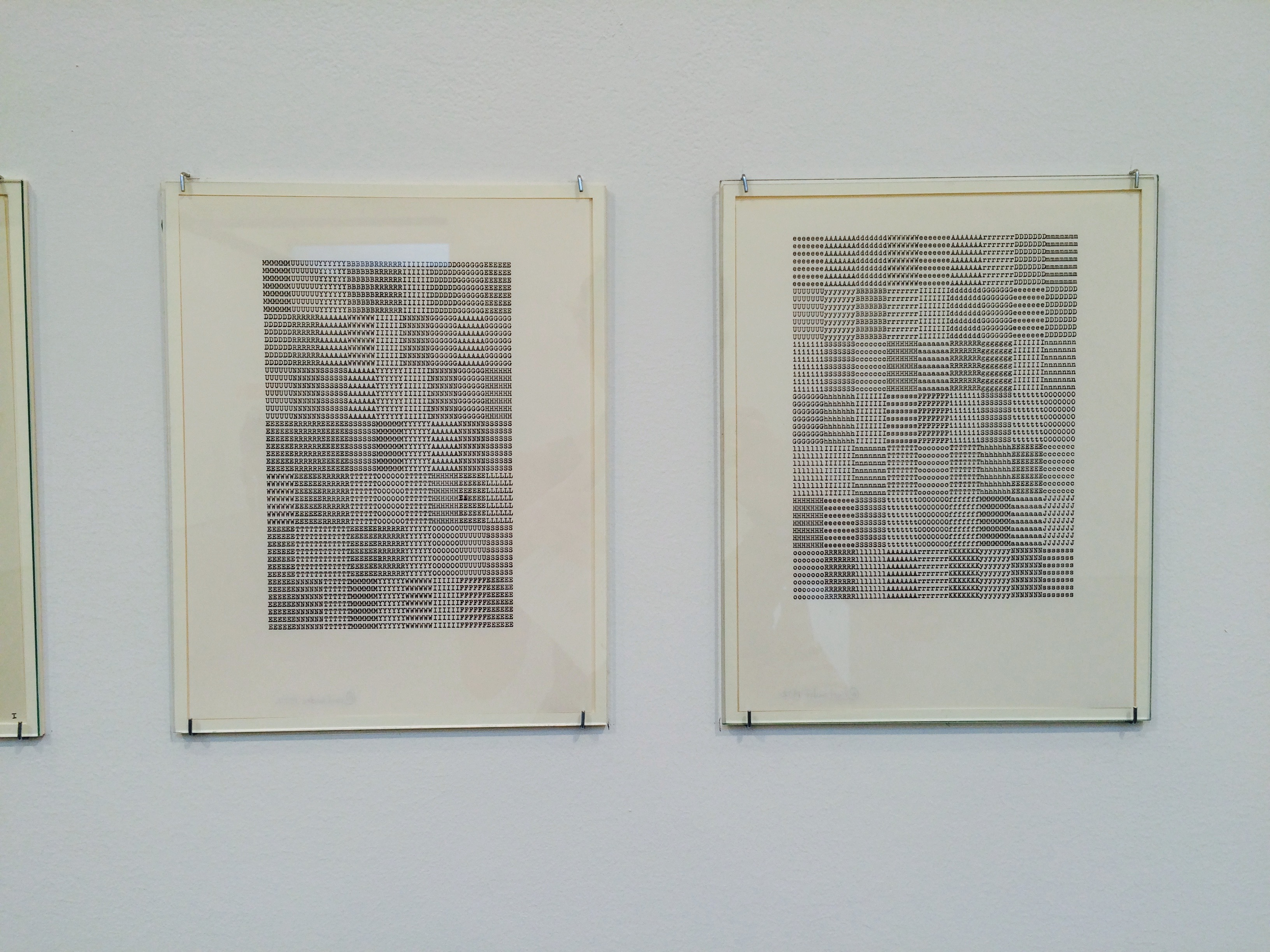 Carl Andre's typewriter drawings