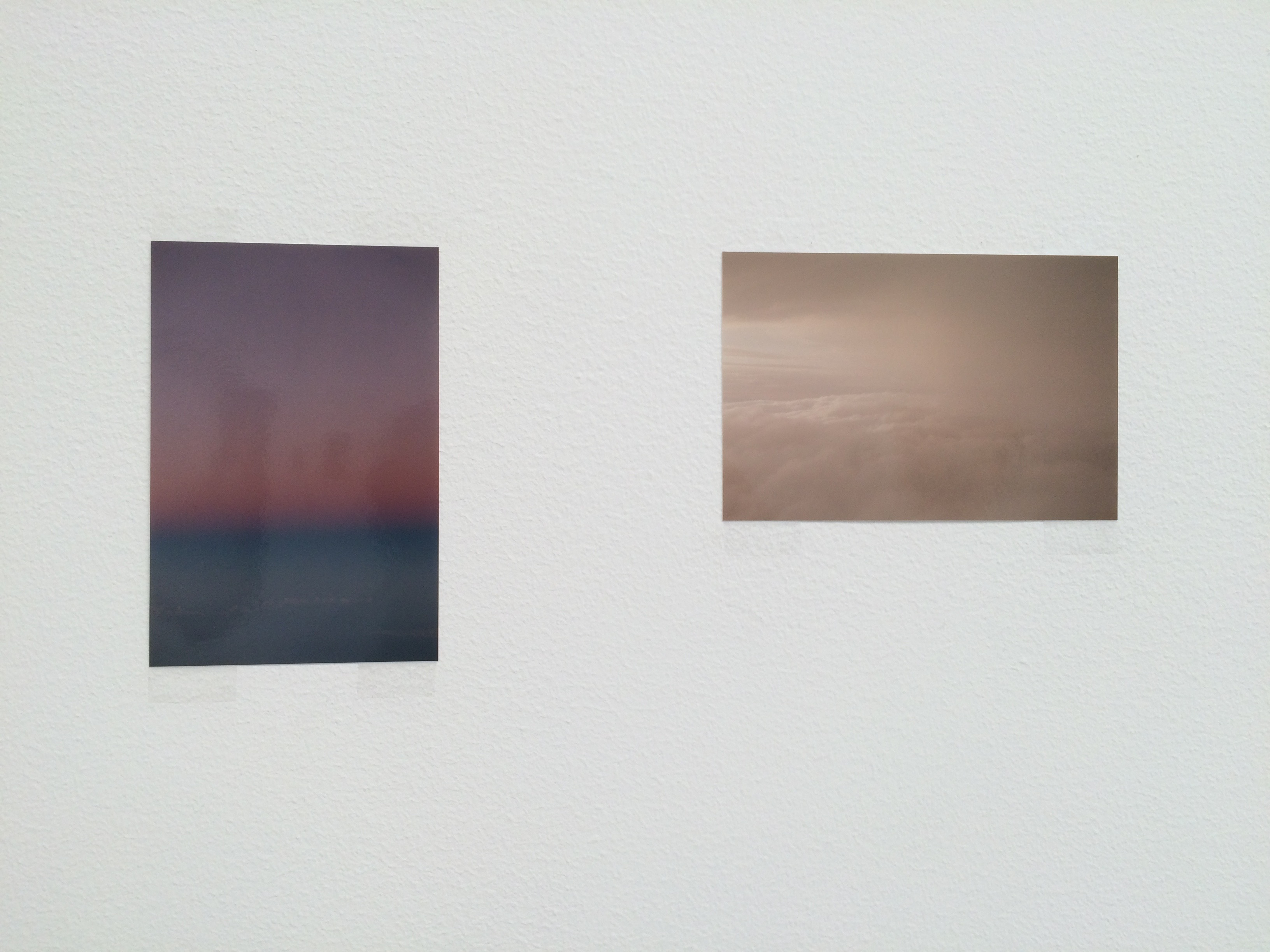 My favorite pieces in the Tillmans show: two tiny sky-views