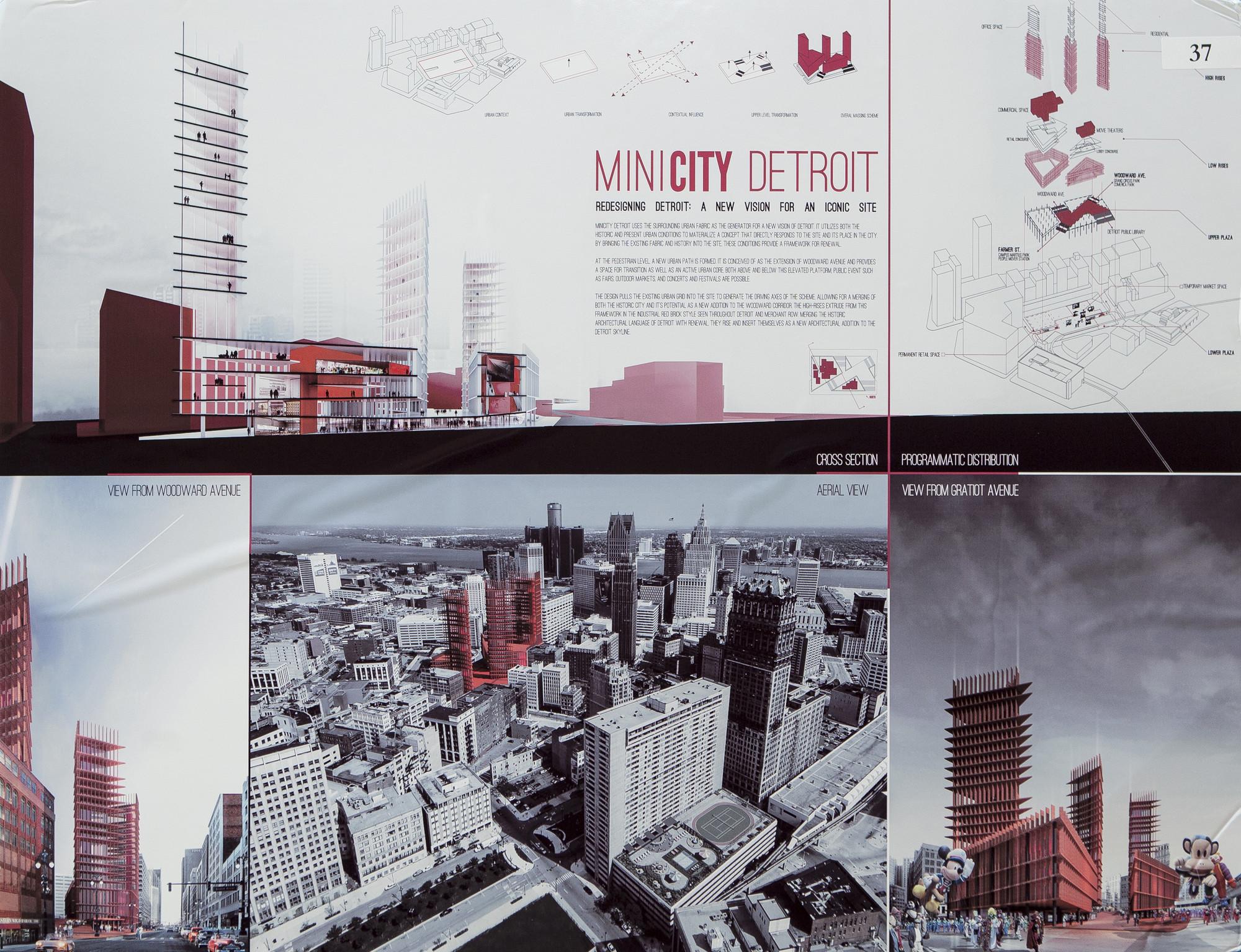 "Davide Marchetti & Erin Pellegrino, MiniCity Detroit, ""Redesigning Detroit"" competition entry, 2013"